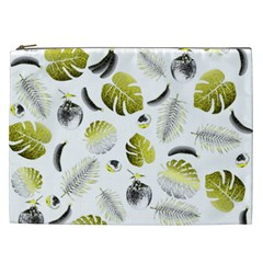 Tropical Pattern Cosmetic Bag (xxl)  by Valentinaart