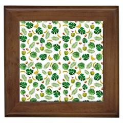 Tropical Pattern Framed Tiles by Valentinaart