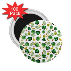 Tropical Pattern 2 25  Magnets (100 Pack)  by Valentinaart