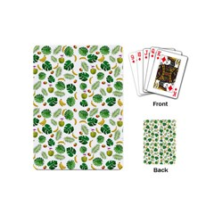 Tropical Pattern Playing Cards (mini)  by Valentinaart