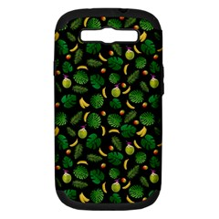 Tropical Pattern Samsung Galaxy S Iii Hardshell Case (pc+silicone) by Valentinaart
