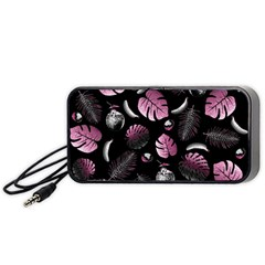 Tropical Pattern Portable Speaker (black) by Valentinaart