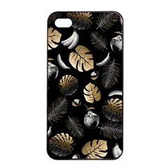 Tropical Pattern Apple Iphone 4/4s Seamless Case (black) by Valentinaart