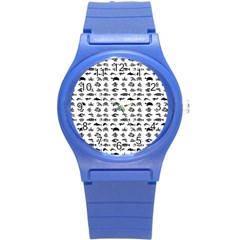 Fish Pattern Round Plastic Sport Watch (s) by ValentinaDesign