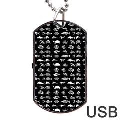 Fish Pattern Dog Tag Usb Flash (one Side) by ValentinaDesign