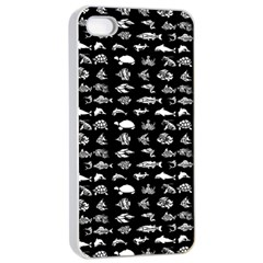 Fish Pattern Apple Iphone 4/4s Seamless Case (white) by ValentinaDesign