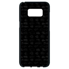 Fish Pattern Samsung Galaxy S8 Black Seamless Case by ValentinaDesign