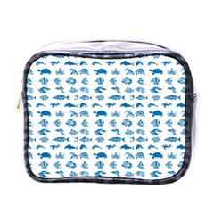 Fish Pattern Mini Toiletries Bags by ValentinaDesign