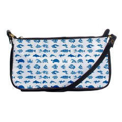 Fish Pattern Shoulder Clutch Bags by ValentinaDesign
