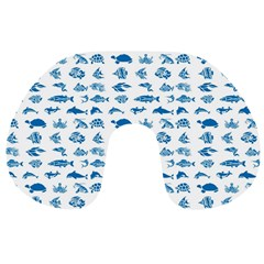 Fish Pattern Travel Neck Pillows by ValentinaDesign