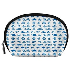 Fish Pattern Accessory Pouches (large)  by ValentinaDesign