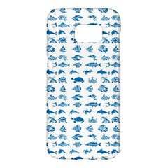 Fish Pattern Samsung Galaxy S7 Edge Hardshell Case by ValentinaDesign
