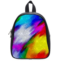 Rainbow Colors              School Bag (small) by LalyLauraFLM