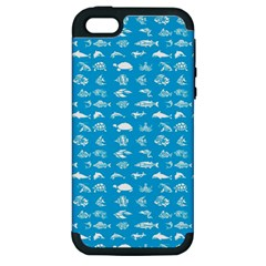Fish Pattern Apple Iphone 5 Hardshell Case (pc+silicone) by ValentinaDesign