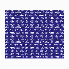 Fish Pattern Small Glasses Cloth (2 Side) by ValentinaDesign