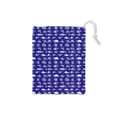 Fish Pattern Drawstring Pouches (small)  by ValentinaDesign
