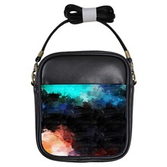 Paint Strokes And Splashes              Girls Sling Bag by LalyLauraFLM