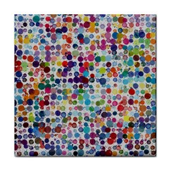 Colorful Splatters               Tile Coaster by LalyLauraFLM