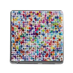 Colorful Splatters               Memory Card Reader (square) by LalyLauraFLM