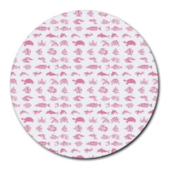 Fish Pattern Round Mousepads by ValentinaDesign