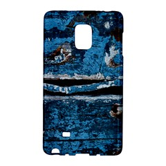 Blue Painted Wood          Samsung Galaxy Note 4 Leather Folio by LalyLauraFLM