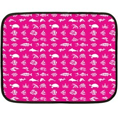 Fish Pattern Double Sided Fleece Blanket (mini)  by ValentinaDesign