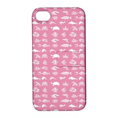 Fish Pattern Apple Iphone 4/4s Hardshell Case With Stand by ValentinaDesign