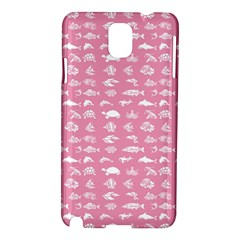 Fish Pattern Samsung Galaxy Note 3 N9005 Hardshell Case by ValentinaDesign