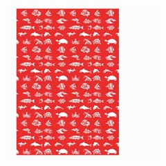 Fish Pattern Large Garden Flag (two Sides) by ValentinaDesign