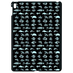 Fish Pattern Apple Ipad Pro 9 7   Black Seamless Case by ValentinaDesign