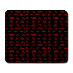 Fish Pattern Large Mousepads by ValentinaDesign