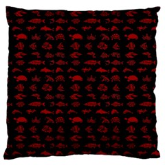Fish Pattern Large Cushion Case (two Sides) by ValentinaDesign