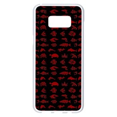 Fish Pattern Samsung Galaxy S8 Plus White Seamless Case by ValentinaDesign