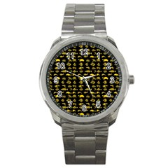 Fish Pattern Sport Metal Watch by ValentinaDesign