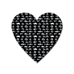 Fish Pattern Heart Magnet by ValentinaDesign