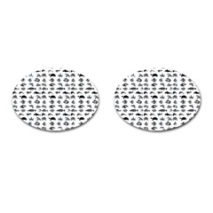 Fish Pattern Cufflinks (oval) by ValentinaDesign
