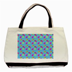 Summer Pattern Basic Tote Bag by ValentinaDesign