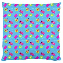 Summer Pattern Large Cushion Case (two Sides) by ValentinaDesign