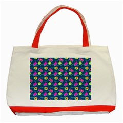 Summer Pattern Classic Tote Bag (red) by ValentinaDesign