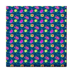 Summer Pattern Face Towel by ValentinaDesign