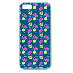 Summer Pattern Apple Seamless Iphone 5 Case (color) by ValentinaDesign