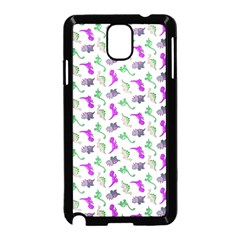 Dinosaurs Pattern Samsung Galaxy Note 3 Neo Hardshell Case (black) by ValentinaDesign