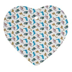 Dinosaurs Pattern Ornament (heart) by ValentinaDesign