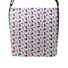 Dinosaurs Pattern Flap Messenger Bag (l)  by ValentinaDesign