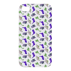 Dinosaurs Pattern Apple Iphone 4/4s Premium Hardshell Case by ValentinaDesign