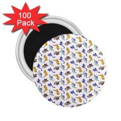 Dinosaurs Pattern 2 25  Magnets (100 Pack)  by ValentinaDesign
