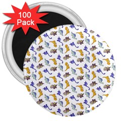 Dinosaurs Pattern 3  Magnets (100 Pack) by ValentinaDesign