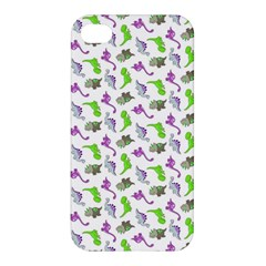 Dinosaurs Pattern Apple Iphone 4/4s Hardshell Case by ValentinaDesign