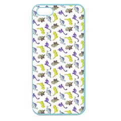 Dinosaurs Pattern Apple Seamless Iphone 5 Case (color) by ValentinaDesign
