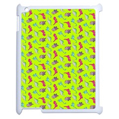 Dinosaurs Pattern Apple Ipad 2 Case (white) by ValentinaDesign
